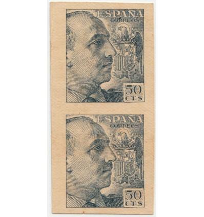 1939. Franco. Ensayo. Edifil 927. Gálvez no catalogado