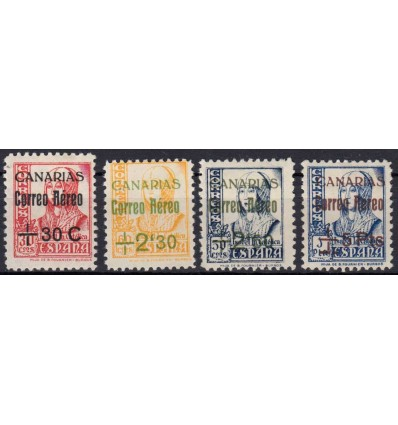 1937-1938. Canarias. Edifil 40-43 *