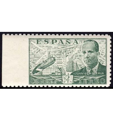 1940. Juan de la Cierva. Variedad de perforación. Edifil 945smi