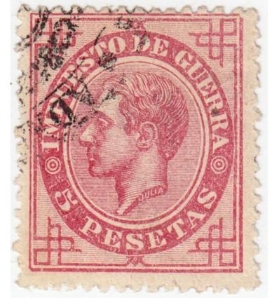 1876. Alfonso XII. Impuesto de guerra. Edifil 187 º