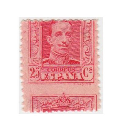 1922-1930. Alfosno XIII. Medallón. Variedad perforación. Edifil 317 *
