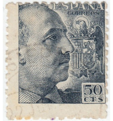 1939. Franco. Variedad perforación. Edifil 927dh