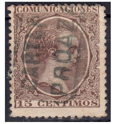 1889 ca. Alfonso XIII. Cartería Proaza (Oviedo, Asturias). Edifil 219