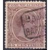 1889 ca. Alfonso XIII. Cartería Barcarrota (Badajoz). Edifil 219