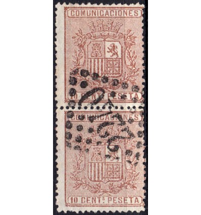 1874. Escudo de España. Matasello francés de Marsella. Edifil 153