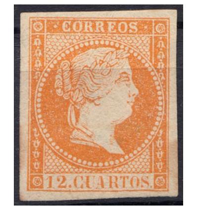 1859. Isabel II. Muestra. Edifil NE1AM