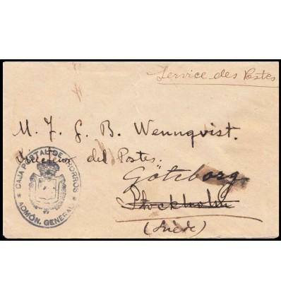 1925. Alfonso XIII. Sobre Madrid. Franquicia Caja Postal Ahorros