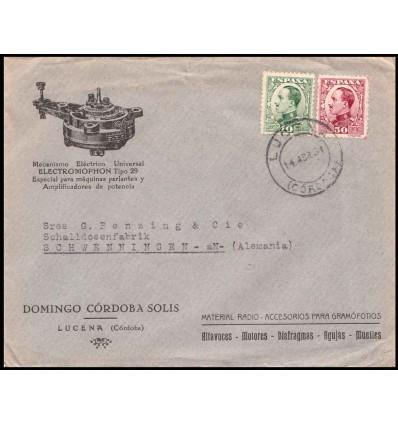 1931. Alfonso XIII. Vaquer. Sobre Lucena (Córdoba). Día proclamación segunda república. Edifil 492, 496