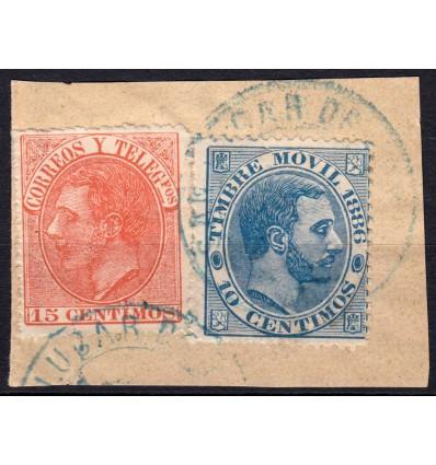 Fiscal. Timbre móvil. Uso postal. Sanlúcar de Barrameda (Cádiz)