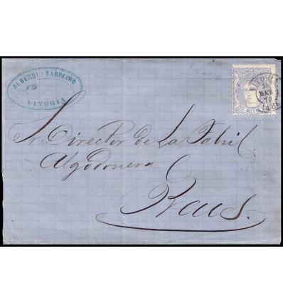 1870. Alegoría España. Envuelta Vitoria (Alava). Edifil 107