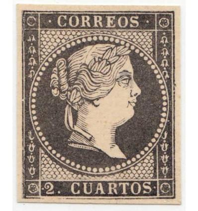 1859. Isabel II. Prueba punzón. Gálvez 201