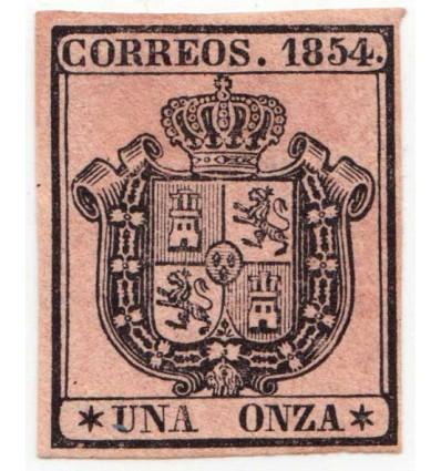 1854. Isabel II. Servicio oficial. Ensayo. Gálvez 82