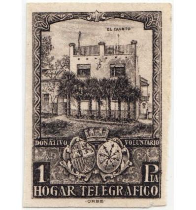 1938. Beneficencia, Huérfanos de telégrafos. Ensayo. Edfil 12. Gálvez HT 5