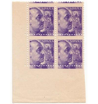 1939. Franco. Variedad perforación. Edifil 922dh (no catalogado)