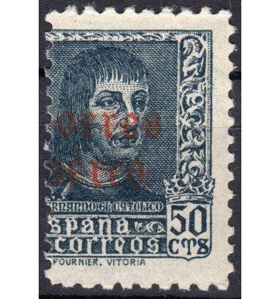 1938. Fernando El Católico. Variedad de perforación. Edifil 345 (no catalogado)